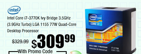 Intel Core i7-3770K Ivy Bridge 3.5GHz (3.9GHz Turbo) LGA 1155 77W Quad-Core Desktop Processor