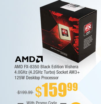 AMD FX-8350 Black Edition Vishera 4.0GHz (4.2GHz Turbo) Socket AM3+ 125W Desktop Processor