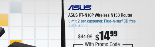 ASUS RT-N10P Wireless N150 Router