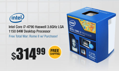 Intel Core i7-4790 Haswell 3.6GHz LGA 1150 84W Desktop Processor