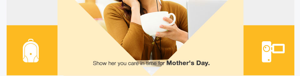Show her you care in time for Mother's Day.
