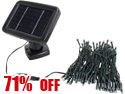 Rosewill RHDH-13003 33' Solar Decorative String Lights, 100pcs White LED, Green Cable