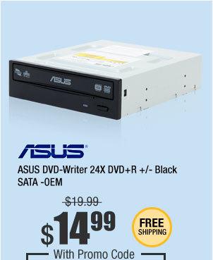 ASUS DVD-Writer 24X DVD+R +/- Black SATA -OEM