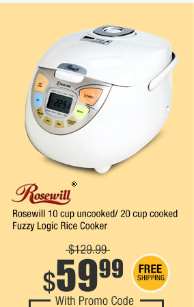 Rosewill 10 cup uncooked/ 20 cup cooked Fuzzy Logic Rice Cooker