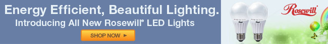 Energy Efficient, beautiful lighting. Introducing all new rosewill LED lights.