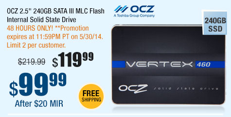 "OCZ 2.5"" 240GB SATA III MLC Flash Internal Solid State Drive"