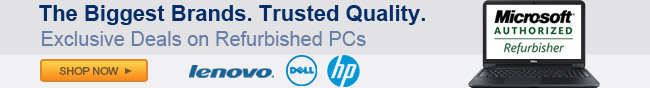 The biggest brands. Trusted quality. Exclusive deals on refurbished pcs.
