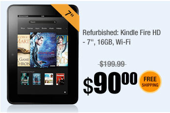 "Refurbished: Kindle Fire HD - 7"", 16GB, Wi-Fi"