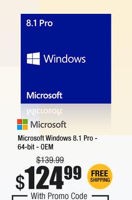 Microsoft Windows 8.1 Pro - 64-bit - OEM