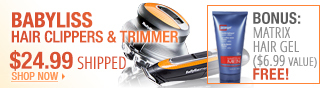 bablyliss hair clippers and trimmer.