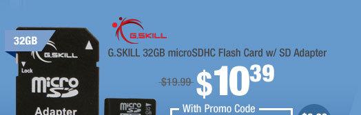 G.SKILL 32GB microSDHC Flash Card w/ SD Adapter