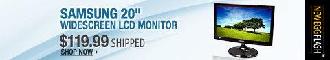 Newegg Flash – Samsung 20inch widescreen LCD monitor