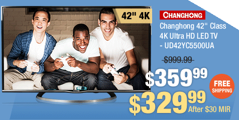 "Changhong 42"" Class 4K Ultra HD LED TV - UD42YC5500UA"