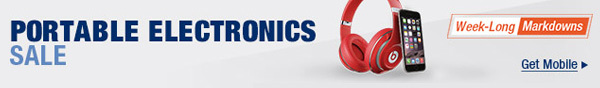 PORTABLE ELECTRONICS SALE. Week-Long Markdowns. Get Mobile