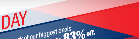 A week of our biggest deals so far this year…up to 83% off.