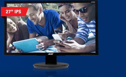 "Acer K272HULbmiidp Black 27"" WQHD 6ms (GTG) HDMI Widescreen LED Backlight LCD Monitor, IPS Panel"