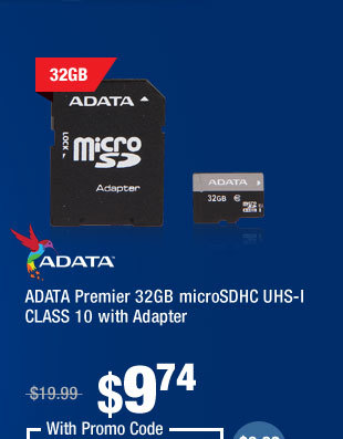 ADATA Premier 32GB microSDHC UHS-I CLASS 10 with Adapter