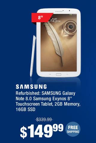 "Refurbished: SAMSUNG Galaxy Note 8.0 Samsung Exynos 8"" Touchscreen Tablet, 2GB Memory, 16GB SSD"