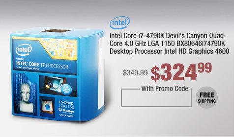 Intel Core i7-4790K Devil's Canyon Quad-Core 4.0 GHz LGA 1150 BX80646I74790K Desktop Processor Intel HD Graphics 4600
