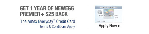 Get 1 year of newegg premier + $25 back