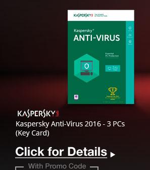 Kaspersky Anti-Virus 2016 - 3 PCs (Key Card)