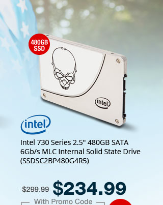 """Intel 730 Series 2.5"""" 480GB SATA 6Gb/s MLC Internal Solid State Drive (SSDSC2BP480G4R5)"""