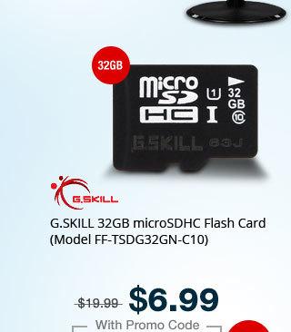 G.SKILL 32GB microSDHC Flash Card (Model FF-TSDG32GN-C10)