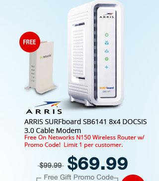 ARRIS SURFboard SB6141 8x4 DOCSIS 3.0 Cable Modem