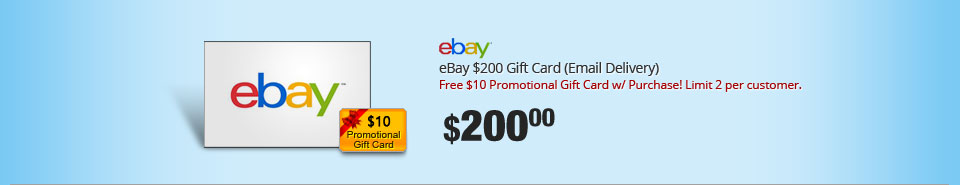 eBay $200 Gift Card (Email Delivery)