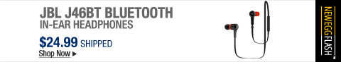 Newegg Flash � JBL J46BT Bluetooth In-Ear Headphones