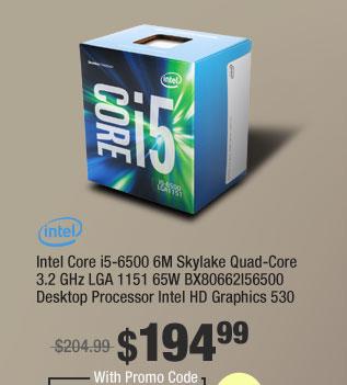 Intel Core i5-6500 6M Skylake Quad-Core 3.2 GHz LGA 1151 65W BX80662I56500 Desktop Processor Intel HD Graphics 530