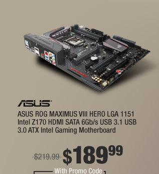 ASUS ROG MAXIMUS VIII HERO LGA 1151 Intel Z170 HDMI SATA 6Gb/s USB 3.1 USB 3.0 ATX Intel Gaming Motherboard