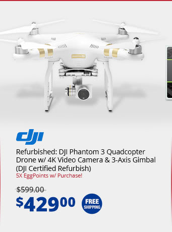 Refurbished: DJI Phantom 3 Quadcopter Drone w/ 4K Video Camera & 3-Axis Gimbal  (DJI Certified Refurbish)