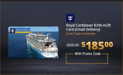Royal Caribbean $200 eGift Card (Email Delivery)