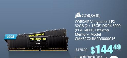 corsair vengeance lpx 32gb 2 x 16gb ddr4 3000 pc4 24000 desktop - discount code for fortnite gg
