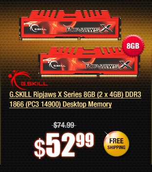 G.SKILL Ripjaws X Series 8GB (2 x 4GB) DDR3 1866 (PC3 14900) Desktop Memory