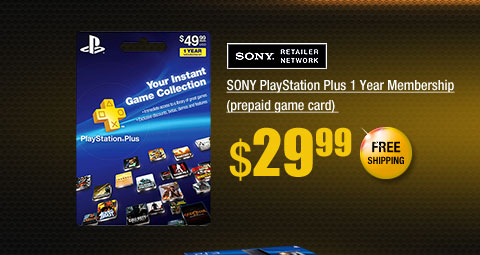 SONY PlayStation Plus 1 Year Membership (prepaid game card)