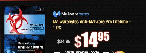Malwarebytes Anti-Malware Pro Lifetime - 1 PC