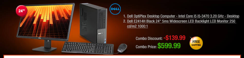 1. Dell OptiPlex Desktop Computer - Intel Core i5 i5-3470 3.20 GHz - Desktop