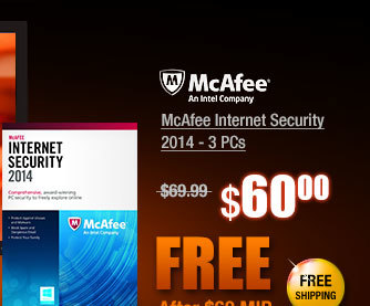 McAfee Internet Security 2014 - 3 PCs