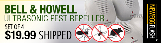Newegg Flash - Bell & Howell Ultrasonic Pest Repeller.