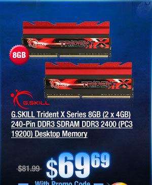 G.SKILL Trident X Series 8GB (2 x 4GB) 240-Pin DDR3 SDRAM DDR3 2400 (PC3 19200) Desktop Memory