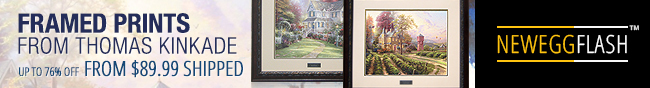 Newegg Flash - Framed Prints From Thomas Kinkade.