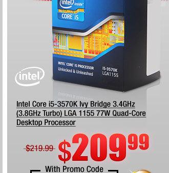 Intel Core i5-3570K Ivy Bridge 3.4GHz (3.8GHz Turbo) LGA 1155 77W Quad-Core Desktop Processor
