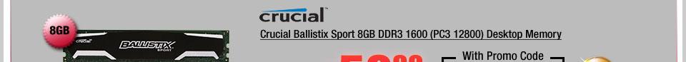 Crucial Ballistix Sport 8GB DDR3 1600 (PC3 12800) Desktop Memory