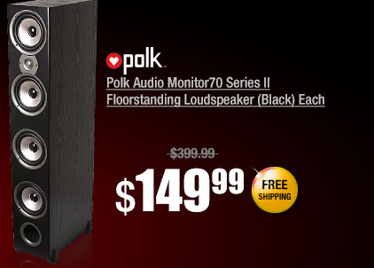 Polk Audio Monitor70 Series II Floorstanding Loudspeaker (Black) Each