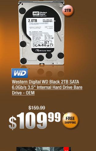 """Western Digital WD Black 2TB SATA 6.0Gb/s 3.5"""" Internal Hard Drive Bare Drive - OEM"""