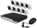 Zmodo KHI8-YARUZ8ZN 8 Channel H.264, 960H DVR Security System with 8 x 700TVL Night Vision w/IR Cut Outdoor Cameras (No HDD)