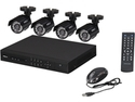 SHIELD series 4 Channel H.264 Level Surveillance DVR kit + 4 * 700TVL Cameras, Night Vision up to 65ft, Remote Viewing Supported (No HDD included)