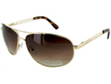 Kenneth Cole Reaction KC1069 Aviator Sunglasses - Gold/Brown